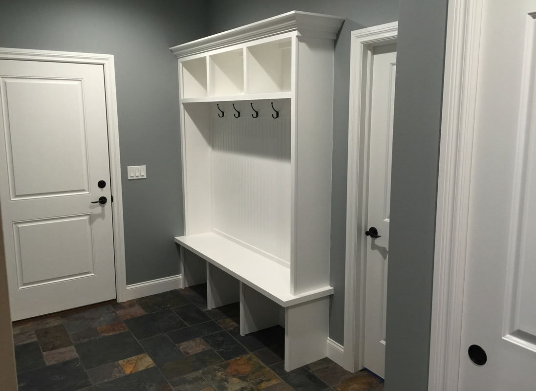 Mudroom White and Grey