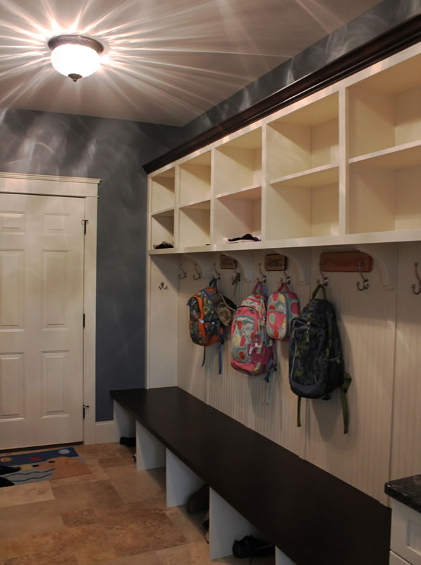 Mudroom with Bench and Hooks