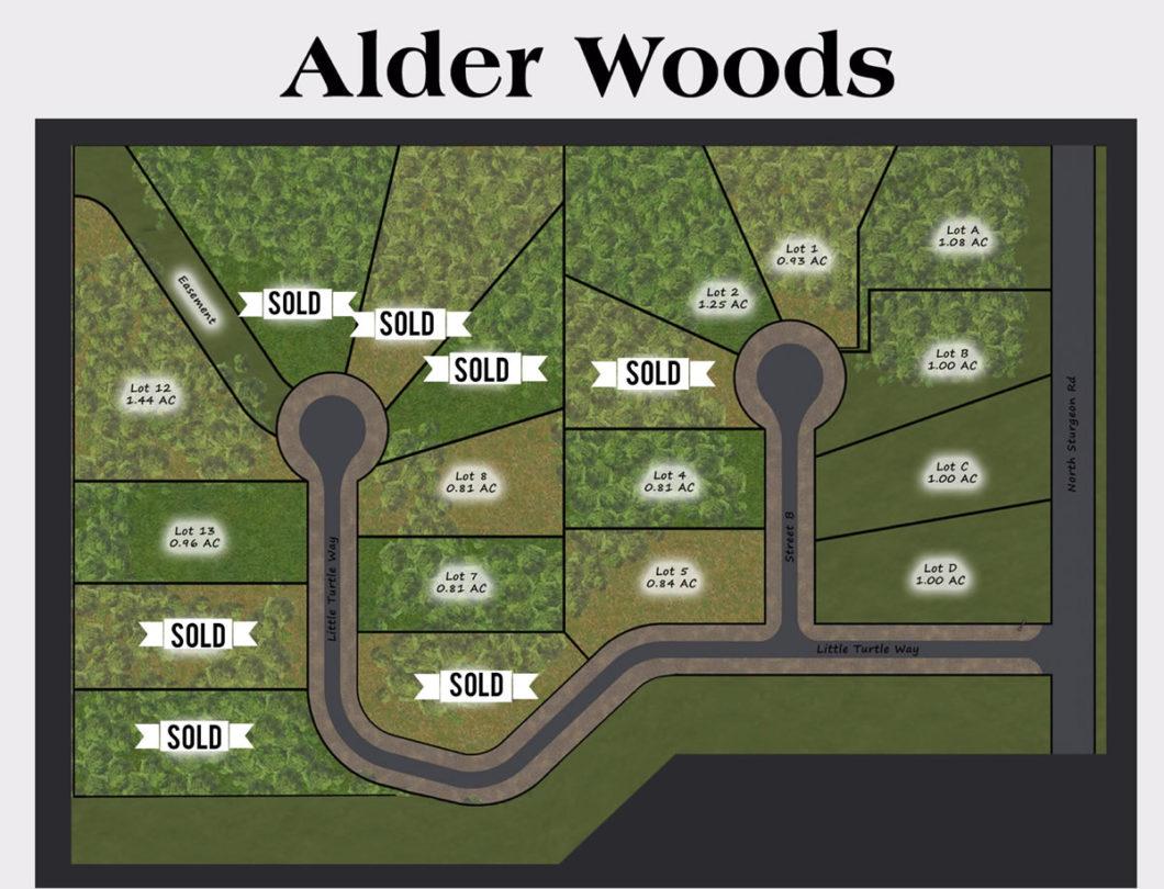 Alder Woods lots for sale