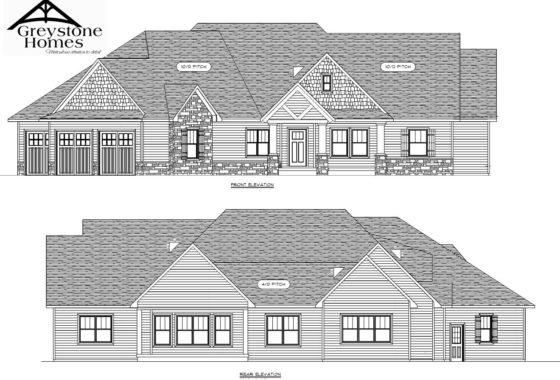 Proposed home Alder Woods front back