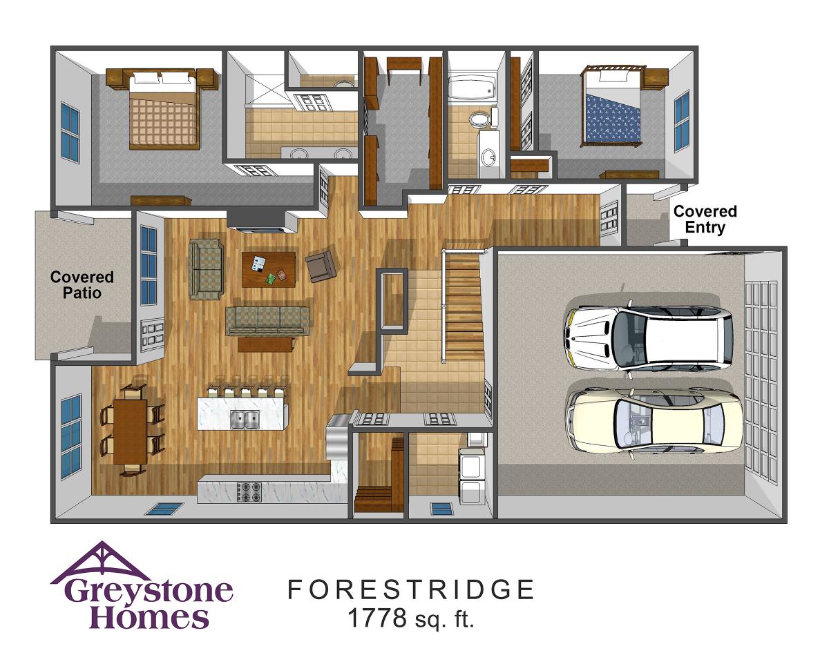 Forest Ridge Luxury Twin Homes floorplans 2