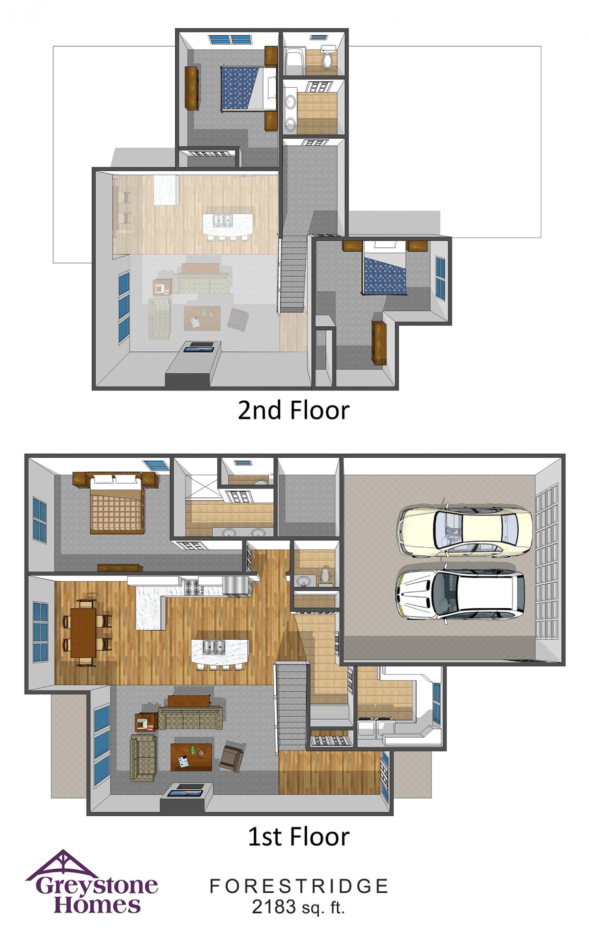 Forest Ridge Luxury Twin Homes floorplans