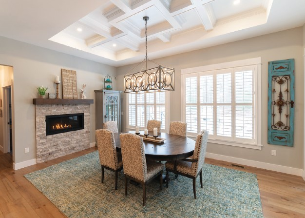 French Country Custom Home Dining